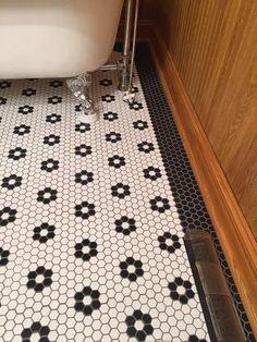 mit mosaik Merola Tile Metro Hex Matte Black in. x 5 mm Porcelain Mosaic Tile sq. / case)-FDXMHMB - The Home Depot Hexagon Tile Bathroom, Bathroom Flooring, Mosaic Tiles, Cement Tiles, Bathroom Cabinets, Tile Art, Bathroom Fixtures, Wall Tiles, Upstairs Bathrooms