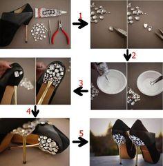 Dale un aire chic y sofisticado a tus tacones con está súper idea #DIY