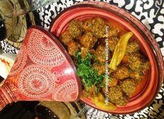 Kefta aux epinards/ Algerian spinach meatballs
