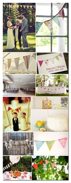 homemade banners are a cute and affordable decorating idea