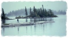 Paint Lake, Manitoba, with its countless islands.