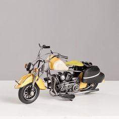 Miniatura Moto Harley-Davidson Vintage - Bege - Machine Cult - Kustom Shop | A loja das camisetas de carro e moto