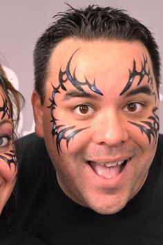 Cool tribal face paint design | Face paint | Pinterest ...