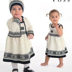 DG208-01B Voss babykjole, jakke & lue - hvit | Dale Garn Summer Dresses, Knitting, Design, Fashion, Threading, Moda, Sundresses, Tricot, La Mode