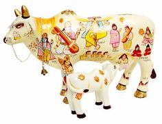 Kamadhenu, the sacred cow; Lord Krishna's pet