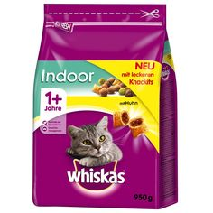 Animalerie  Whiskas 1 Indoor poulet pour chat  2 x 950 g