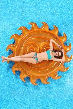 Sun Pool Float from Urban Outfitters. Shop more products from Urban Outfitters on Wanelo. Summer Of Love, Summer Fun, Summer Time, Hello Summer, Cool Floaties, Cool Pool Floats, Foto Fashion, Pool Accessories, Summer Pool