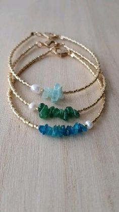 Beaded Bracelet Patterns, Jewelry Patterns, Beading Patterns, Beaded Jewelry Designs, Beading Ideas, Handmade Wire Jewelry, Handmade Bracelets, Handmade Accessories, Dainty Bracelets