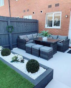 Back Garden Design, Modern Garden Design, Backyard Garden Design, Patio Design, Backyard Patio, Backyard Landscaping, Garden Ideas With Decking, Garden Ideas On A Budget, Small Back Garden Ideas