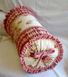 country style pink roll pillow
