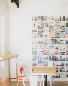 Un mural de fotos de Instragram