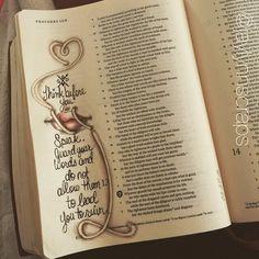 Proverbs 13:3 bible journaling.