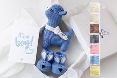 Newborn boy cute gift Crochet llama toy in blue soft sole   Etsy