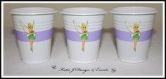 Cup Stickers #Tinker #Bell #Tinkerbelle #Belle #Tinkerbell #Girls #Birthday #Bunting #Party #Decorations #Ideas #Banners #Cupcakes #WallDisplay #PopTop #JuiceLabels #PartyBags #Invites #KatieJDesignAndEvents #Personalised #Creative