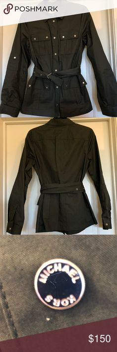 Michael Kors Belted Utility Jacket Brand new Michael Kors utility jacket! I'm in love with this jacket and you will be too! Sadly I need a smaller size  Michael Kors Jackets & Coats Utility Jackets