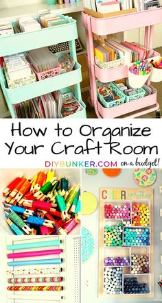 Craft Room Organization DIY Inspiration Ideas LOVE these craft room organization on a budget ideas! The craft cart DIY ideas are the best!LOVE these craft room organization on a budget ideas! The craft cart DIY ideas are the best! Craft Room Storage, Craft Organization, Storage Ideas, Scrapbook Room Organization, Paint Storage, Bedroom Organization, Room Decor For Teen Girls, Small Craft Rooms, Kids Rooms