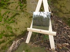 Mirror on easel in the style of Daniel Kukla