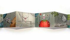 """""""Spacecraft"""" - illustrated concertina book"""