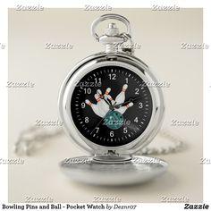 Bowling Pins and Ball - Pocket Watch