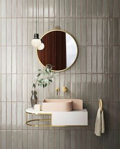 Room Wall Decor Planning a bathroom renovation? Check out the latest trends in tiles for your project. Textured finishes, patterned designs and large format tiles, the collections in this article focus on the key tile trends for Bathroom Trends, Diy Bathroom Decor, Bathroom Interior Design, Modern Bathroom, Bathroom Organization, Bathroom Ideas, Bathroom Tiling, Interior Decorating, Art Deco Bathroom