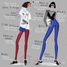 Happy Friday Guys! ❤️ #collage #drawing #drawingoftheday #fashion #fashionillustration #adidasoriginals #americanapparel #boyybag #dkny #elenaghisellini #houseofholland #marni #miumiu #olympialetan