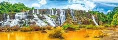 Panoramatické puzzle DINO 1000 dílků - Vodopády Pongour