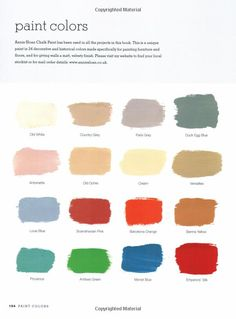 Paris gray for dinning room chairs. perhaps. Annie Sloan Paint Chart