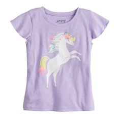 Your little one will love the look of this Toddler Girl Jumping Beans Flutter Sleeve Graphic Tee. Cute Little Girls Outfits, Toddler Girl Outfits, Girl Top Dress, Girl Bottoms, Jumping Beans, Kids Store, Kids Wear, Children Wear, Future Children