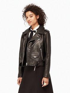 leather moto jacket | Kate Spade New York