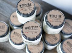 Starter Pack 12 Candles Wood Wick Soy Candles Mason Jar
