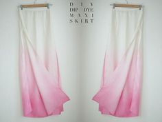 DIY Ombre Dip Dye Maxi Skirt Tutorial by apairandaspare Do It Yourself Mode, Do It Yourself Fashion, Dip Dye Skirts, Maxi Skirts, Diy Maxi Skirt, Maxi Skirt Tutorial, Fashion Network, Diy Ombre, Diy Clothing
