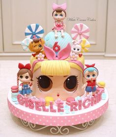 Another LOL surprise cake just for Giselle Richie😍😘❤️ . Doll Birthday Cake, Funny Birthday Cakes, Fondant Baby, Fondant Cakes, Lol Doll Cake, Doll Cakes, Girly Cakes, Surprise Cake, Baby Girl Cakes