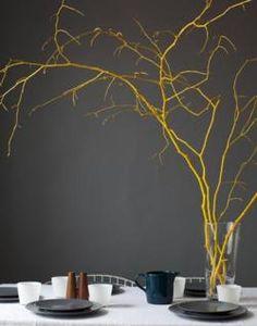 Simple table decor... pop of color