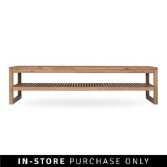 tate coffee table bench solid acacia wood