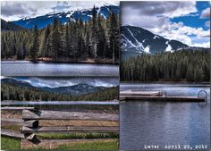 """Majology """"Lost Lake"""" - Nature inspiration: Gorgeous photography form Gosia Maj - Snow capped mountains over lake"""