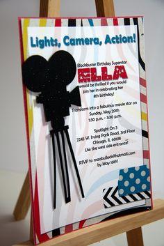 movie theme invite