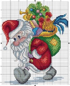 This Pin was discovered by cec Santa Cross Stitch, Cross Stitch Baby, Cross Stitch Charts, Cross Stitch Designs, Cross Stitch Patterns, Cross Stitching, Cross Stitch Embroidery, Embroidery Patterns, Bordados E Cia