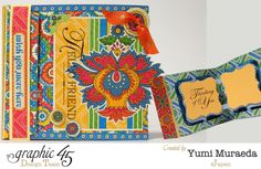 "Bohemian Bazaar ""Hello Friend"" card by Yumi #graphic45"
