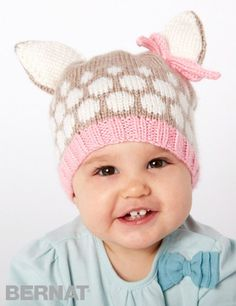 Free knitting pattern for Speckled Fawn Hat