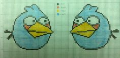 Angry Birds & Enemy Cross Stitch Chart