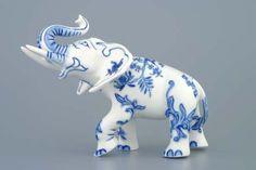 Cesky Porzellan Zwiebelmuster Porzellan - Tiere - Elefant II