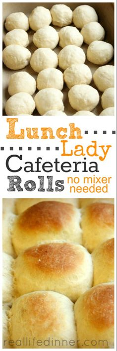 Lunch Lady Cafeteria Rolls {Step by Step Pictures and Instructions.NO MIXER NEEDED} Tried and True Roll Recipe that tastes just like the one the lunch ladies made in the school cafeteria. Bread Machine Recipes, Bread Recipes, Cooking Recipes, Fast Recipes, Crisco Recipes, Sausage Recipes, Kitchen Recipes, Grilling Recipes, Healthy Cooking