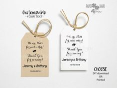 """24 Rustic Bridal Shower Tag 3x2"""" _ Highly Personalizable Text Any Language_ Digital Download Available_ Geschenkanhänger Wedding Tags, Bridal Shower Rustic, Personalized Items, Paper, Unique Jewelry, Handmade Gifts, Prints, Diy, Kid Craft Gifts"""