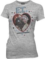 Ladies E.T. Heart and Stars t-shirt tee shirt