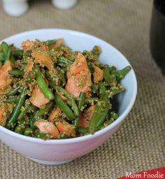 Salmon Green Bean and Quinoa Salad Recipe in Asian Glaze