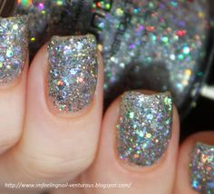 Ice Queen Nail Polish Holographic Glitter Nail Color by KBShimmer, $8.75 // #indiepolish