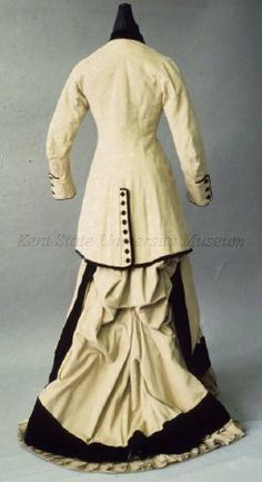 Old Rags - Walking suit, early 1880's Paris, Kent State With...