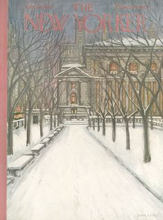 The New Yorker - Saturday, January 16, 1954 - Issue # 1509 - Vol. 29 - N° 48 - Cover by : Edna Eicke
