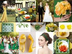 Tropical Escape: A Palette of Green & Yellow with a Touch of Burnt Orange