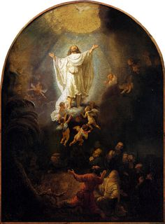 Rembrandt 'The Ascension Of Christ' 1636 Oil on canvas by Plum leaves, via Flickr